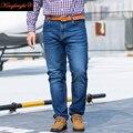 Rey Brillante Marca Mens Jeans Tallas grandes 28-48 Denim Elástico 2 colores de Los Hombres pantalones Rectos de Jean Casual Relax Loose Fit Jeans Pantalones