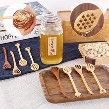 Деревянная Джем медовая ложка-черпак, палочка для напитков, чая, смесительная мешалка, пустотелая креативная длинная ручка, кофейные ложки для помешивания, кухонный инструмент
