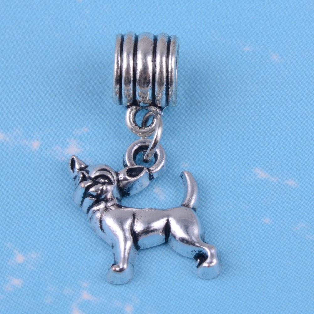 My Shape Animal Pet Greyhound Bulldog Chihuahua Dachshund Paw Charms Beads Fit Pandora Bracelet Diy Bangle Pendant 10pcs In From Jewelry