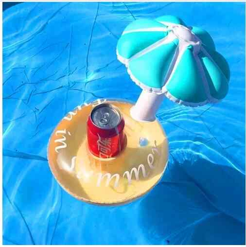 Кольцо с бриллиантом плавающий термосы с изображением фламинго держатель круг для плавания в бассейне водяные игрушки вечерние лодки детский бассейн игрушки надувные единорог держатели для напитков