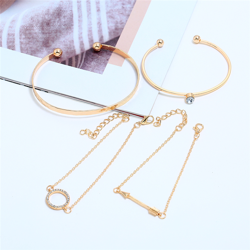 Bohopan Fashion Elegant Girls Bracelets Bangles Open Adjustable Shining Rhinestone pulseras Charming Gold in Jewelry