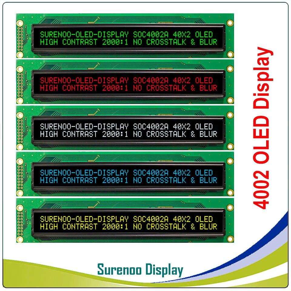 Реальный oled дисплей, 4002 параллельный OLED совместимый 402 40*2 символ ЖК модуль дисплей LCM экран Встроенный WS0010, поддержка SPI