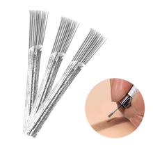5pcs/lot Broom Shaped Disposable 40 Pin Round Microblading Tattoo Needles For Manuel Pen 3d Permanent Fog Eyebrow Lip Makeup