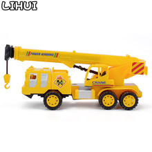 Diecast Inertial Crane Toy Construction Vehicle Toys for Boys Mini Engineering Car Model Classic Educational Toy Gift for Child(China)