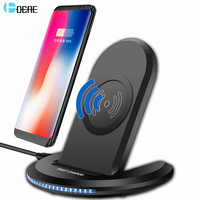 DCAE Qi Wireless Charger For IPhone X 8 Plus Fast Charging Bracket Wireless Charger For Samsung