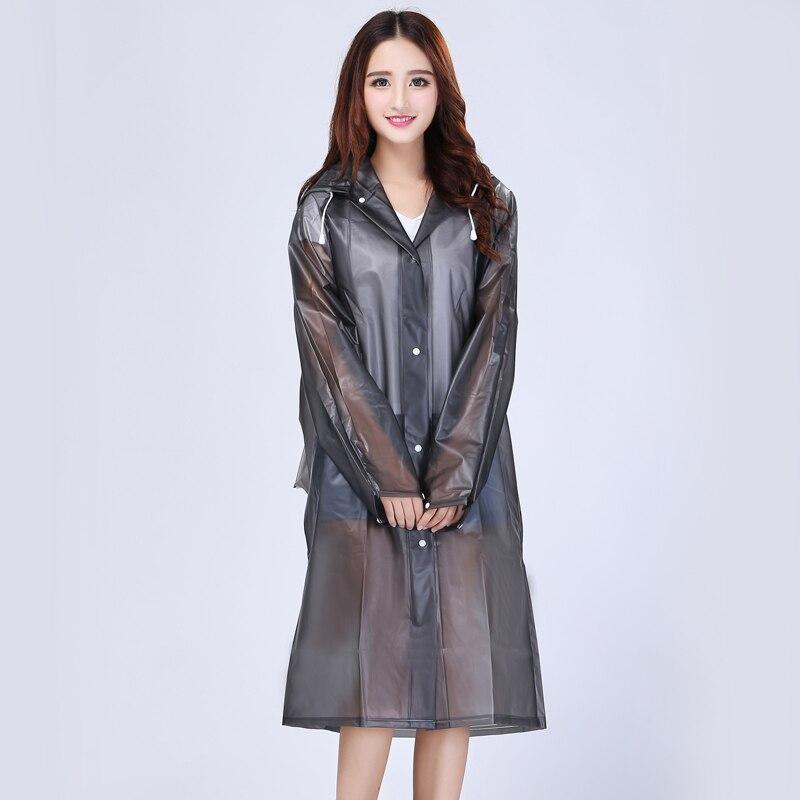 Raincoat Women girls EVA Transparent Raincoat Poncho Portable Light Raincoat NOT Disposable Rain Coat For Adult