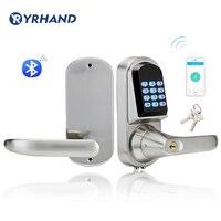 Дома Bluetooth Smart Lock Мини Электронная цифровой клавиатуры блокировка дверей разблокировать с кодом, смартфон приложение и механический ключ