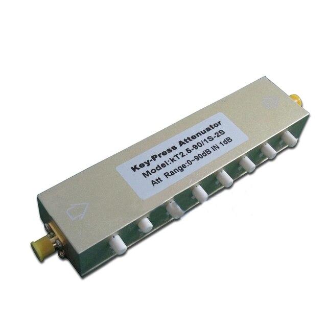 0 ~ 90dB Коаксиальный Регулируемые Ключ-Отжимает SMA РФ Аттенюатор шаг Stepping дб DC-2.5GHz