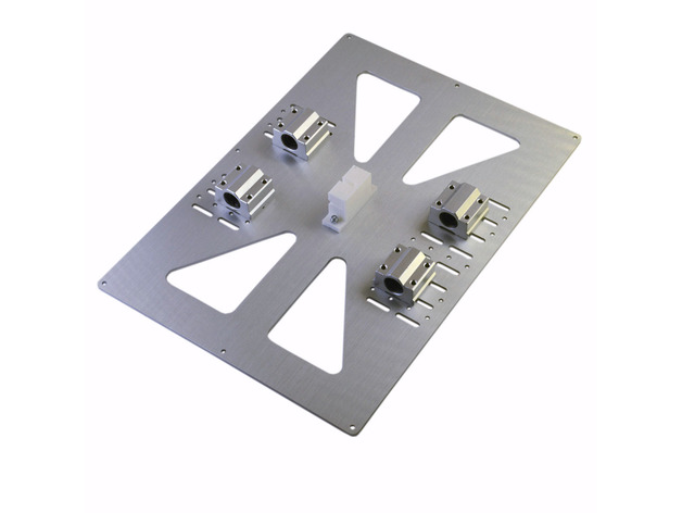 RepRap 3D Printer Prusa i3 Y Carriage Plate Extended Y Carriage Plate for Prusa i3 with Variable Y-Rod Distance 140mm to 170mm prusa i3 update version large size xl aluminum extended 300x200mm y carriage plate for reprap 3d printer