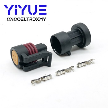 1Set packard 3 pin Delphi waterproof automotive oil Fuel Pressure Sensor male and female Connector plug image