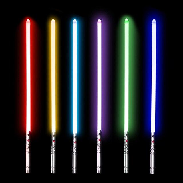 YDD PLUS 7 Color 100cm Lightsaber Metal Sword RGB Laser Light Saber Cosplay Boy Gril Toy