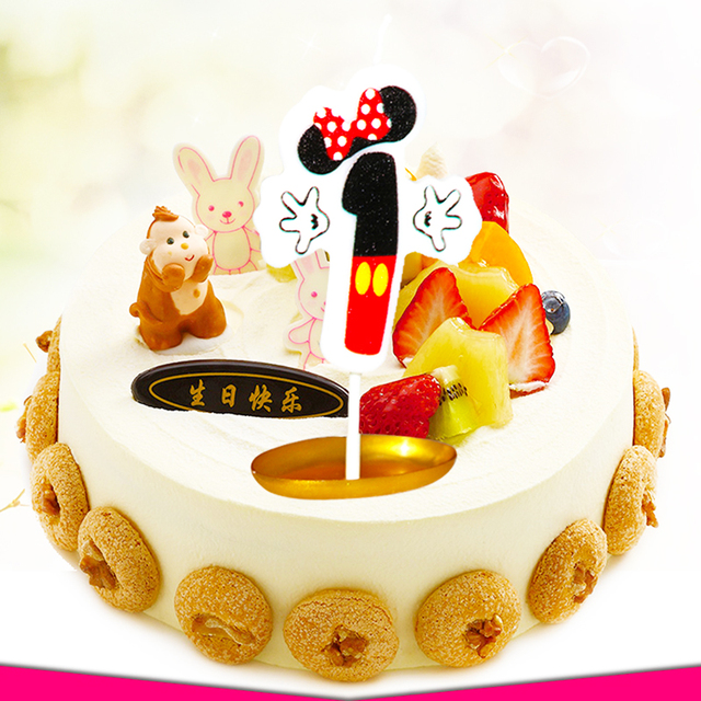 Minnie Numbers Age Candle Kids Baby Birthday Anniversary Cake