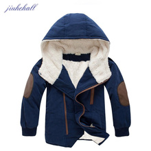 Children Fur Winter Warm Coat For Big Boys Girls Cotton Hooded Jackets Clothing For 3-14 Years Kids Thicker Coats Clothes JH007