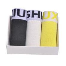 DEWVKV 3pcs/lot Cotton Boxer Shorts Men Boxershorts Mens Underwear Soft Boxers Gray Breathable Male Pants Sets 8003