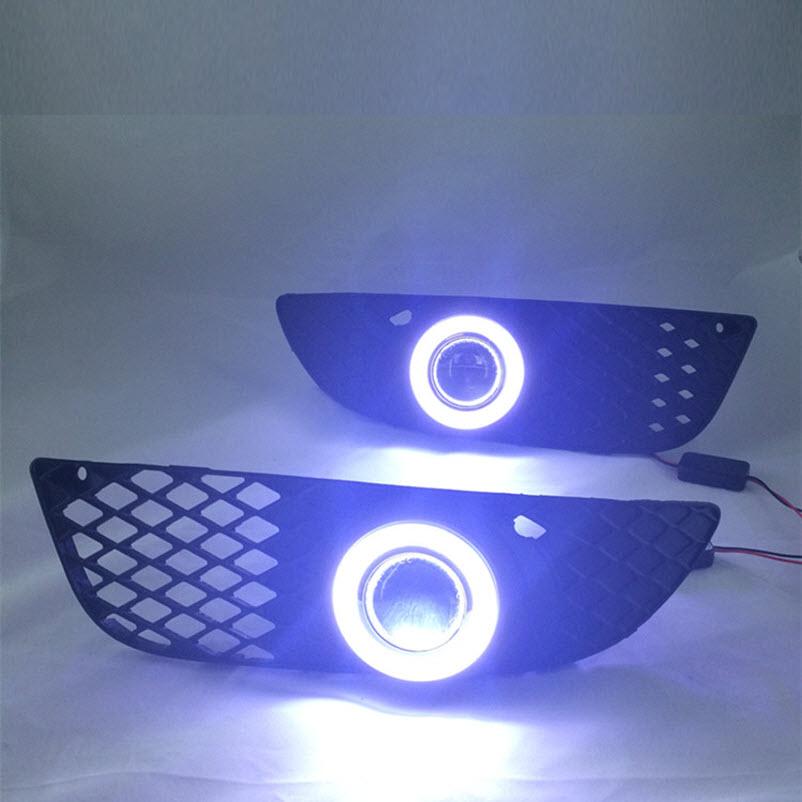 eeMrke For Mitsubishi Lancer EX LED Angel Eye DRL ցերեկային - Ավտոմեքենայի լույսեր - Լուսանկար 5