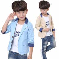 2019 Korean Slim Style Child Wedding Suit Jacket for Kids Boy Gentelman Blazer Coat Teenager School Formal Blazers Jackets 2-10T