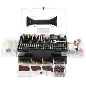 """Image 2 - Meterk 349pcs Rotary Tool Accessories Set 1/8"""" Shank Electric Grinder Accessory Kit for Grinding Sanding Engraving Drilling"""