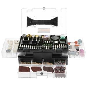 """Image 2 - Meterk Juego de accesorios para herramientas rotativas, 349 Uds., 1/8 """", Kit de accesorios para amoladora eléctrica, lijado, perforación de grabado"""