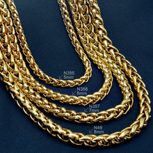 ФОТО 18K 18CT Gold Filled Hallmark Mens Weaved 60cm Lenght Heavy Chain Necklace N49