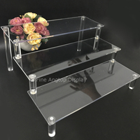New Fashion 3 Tier Acrylic Makeup Organizer Nail Polish Display Cosmetic Stand Plastic Jewelry Toy Storage Glasses Rack
