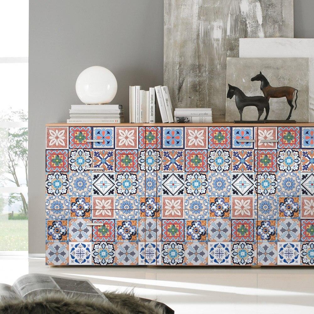 DIY 25pcs Self Adhesive Tile Art Wall Sticker Home Kitchen Bathroom Decoration