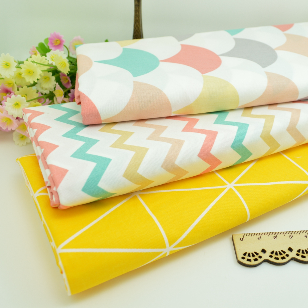 100*160cm geometry Cotton Fabric Patchwork Tissue Cloth Of Handmade DIY Quilting Sewing BabyΧldren Sheets Dress handkerchief