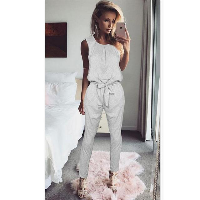 65e93f8fa58 Women Tank Top Jumpsuit Black Summer Rompers Ladies Casual Elegant  Sleeveless Long Pants Plus Size Overalls Playsuit WS949X