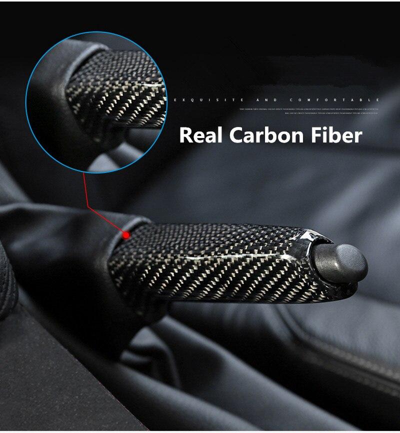 Carbon Fiber Handbrake Cover Trim Car Interior Decoration For BMW E46 E90 E92 E60 E39 E36 F30 F34 F10 F20 Accessories