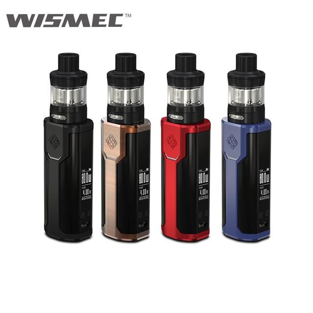 Оригинальный wismec извилистые P80 с elabo Mini Kit 2 мл распылитель электронная сигарета без батареи 18650 Вдыхание пара VS reuleaux RX GEN3