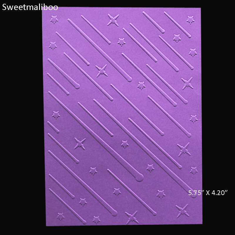 Wish meteor shower Embossing folder plastic DIY Scrapbooking stencils paper card making craft envelop album gift box decor 2017
