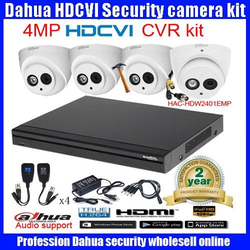 Original English DAHUA 4MP VANDALPROOF CAMERA DH HAC HDW2401EMP cvi dome camera with 4MP Digital CVR