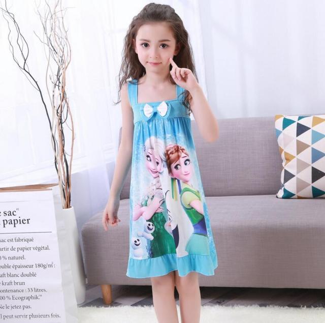 Summer Children\'s Nightgowns Short sleeve Dress Cute Girls Sleepwear ...
