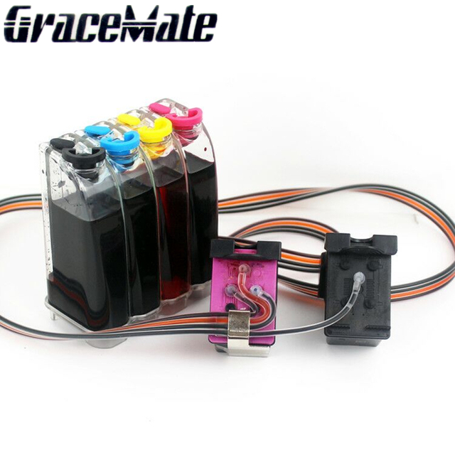 Replace For Hp 62 Xl Ink Cartridge Ciss Compatible Envy 5640 Officejet 200 5540 5740 5542 7640 Printers