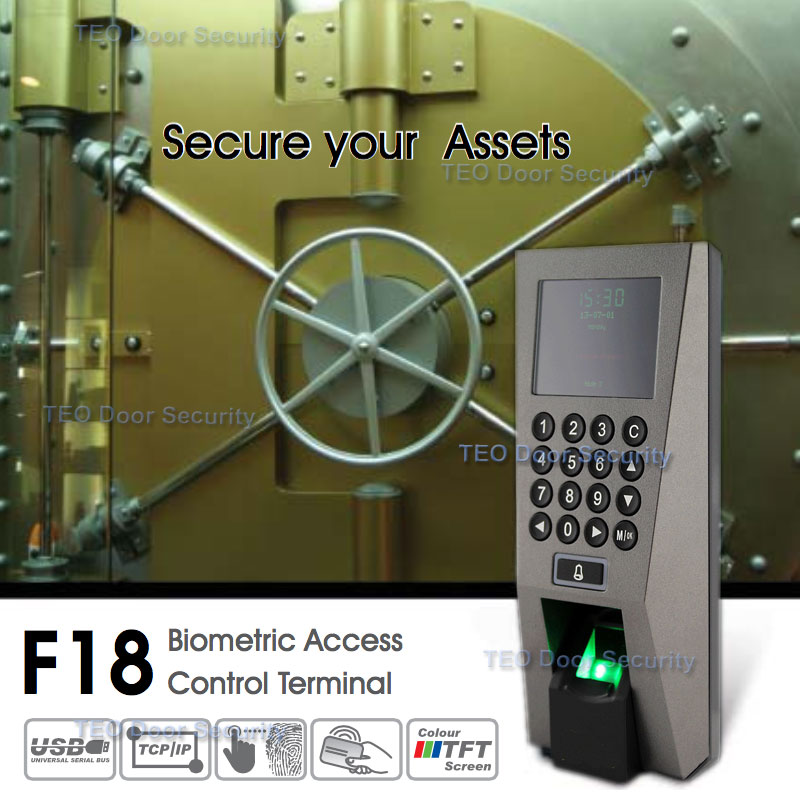 F18  Access Control Time Attendance Recognition System ZKAccess3.5 Security System USB Fingerprint Scanner with SDKF18  Access Control Time Attendance Recognition System ZKAccess3.5 Security System USB Fingerprint Scanner with SDK