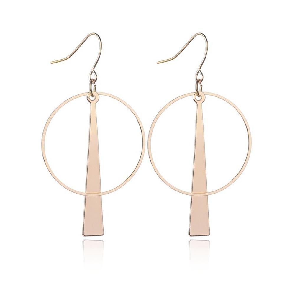 Godzgift Fashion Drop Circle Ring Geometry Earrings For Women Tassel Clip Ethnic Earring Jewelery Gifts New Alloy Bohemia JE5165