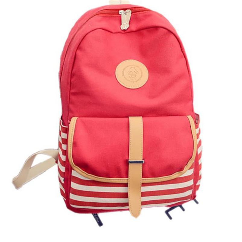 153243db6b 2017 Most Popular Women Fashion Canvas Travel Satchel Shoulder Bag Female  Durable Backpack High Quality A8-in Backpacks from Luggage   Bags on ...