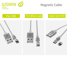 WSKEN magnetic cable,micro usb to usb cables for android devices, and For lightning device. charging cables.