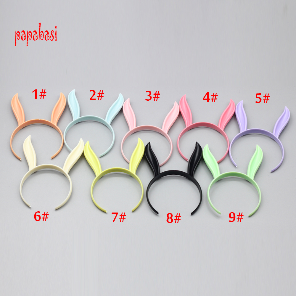 1PCS Rabbit Head Band Cute Headband for 1/6 Blythe Pulip Dolls as for 1/3 1/4 1/12 1/8 Barbie doll Hair Accessories photography backdrops studio photo props photographic background cloth doll accessories for blythe barbie 1 12 1 3 1 4 1 6 bjd