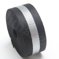 Hot Sale Twill Cotton Webbing Tape With Reflective Middle Slive Line 2 Inch