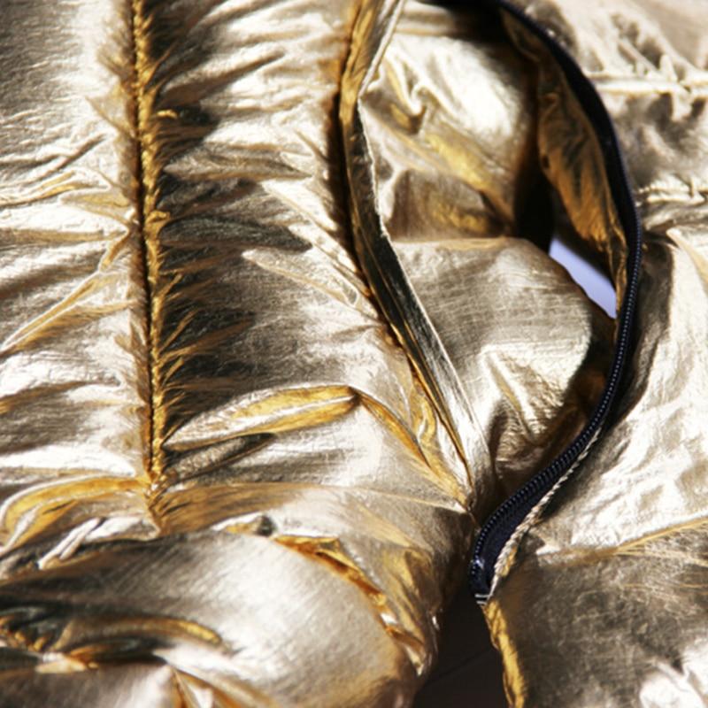 Automne Mode Capuchon Nouveau Brillant Lâche Coton Femelle Surface Golden Paraks Femmes À Or Épais Jq423 2018 Hiver Veste Casual Ouatée vEFYwF