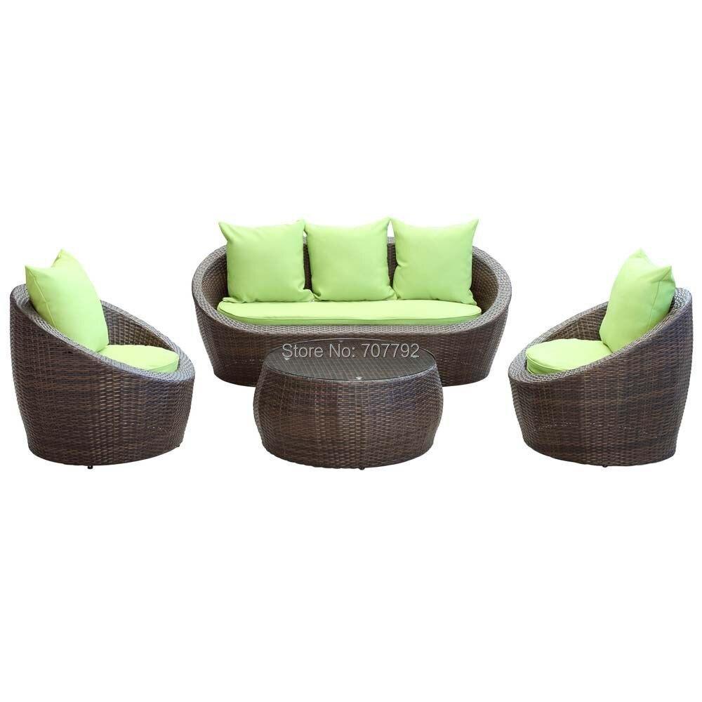nuevo estilo blanco exterior resina muebles de mimbre patiochina mainland