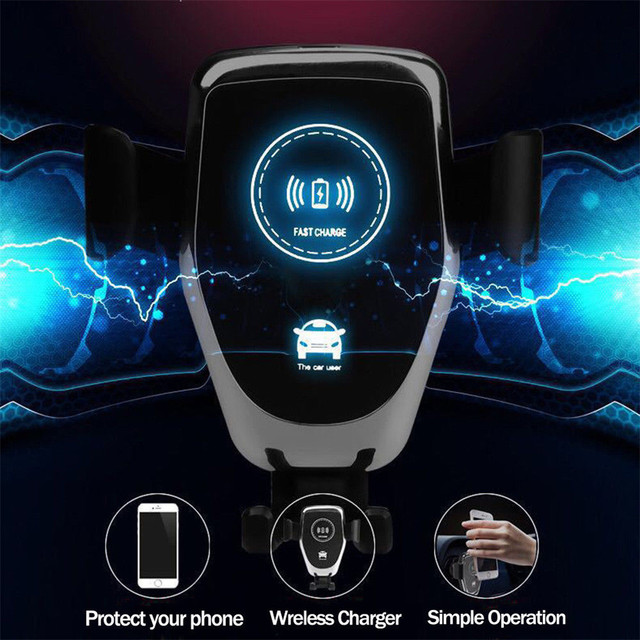 10W Wireless Charger Fast Car Charger Air Vent Mount Phone Holder For iPhone XS Max For Samsung S10 S9 For Huawei QI Chargers 1