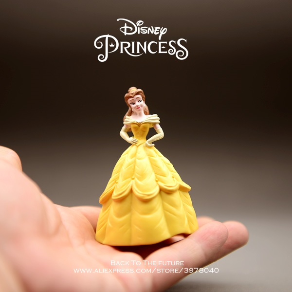 Disney Beauty And The Beast Belle Princess 8cm Doll Action Figure Anime Mini Collection Figurine Toy Model For Children Gift