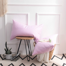 1PC Pure Color Pillow Cover Cotton Silk Pillowcase Emulation Satin Cases Home Textile