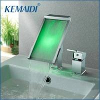 2 Pcs Faucet Set Waterfall Bathroom Basin Faucet Water Power Basin Mixer Chrome Faucet 3 Colors