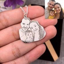 Foto da família feita sob encomenda grava colar de prata esterlina 925 colar para mãe amante do bebê presente da memória do aniversário do dia das mães jóias