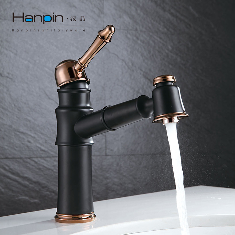 kitchen and bathroom faucets antique european drawer kitchen faucet copper black gold bathroom faucet retractable hot and 8333
