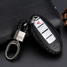 Carbon Fiber Silicone Key Cover Car Styling Case For Nissan Versa Altima Armada Maxima for Titan 370Z Infiniti M35 JX35 Q50