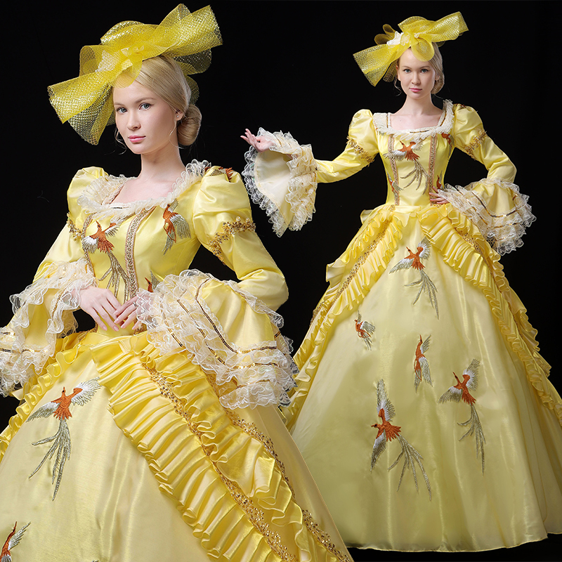 18th Century Rococo Style Marie Antoinette French Dress Rococo Fashion Dress Up Game Women's Clothing