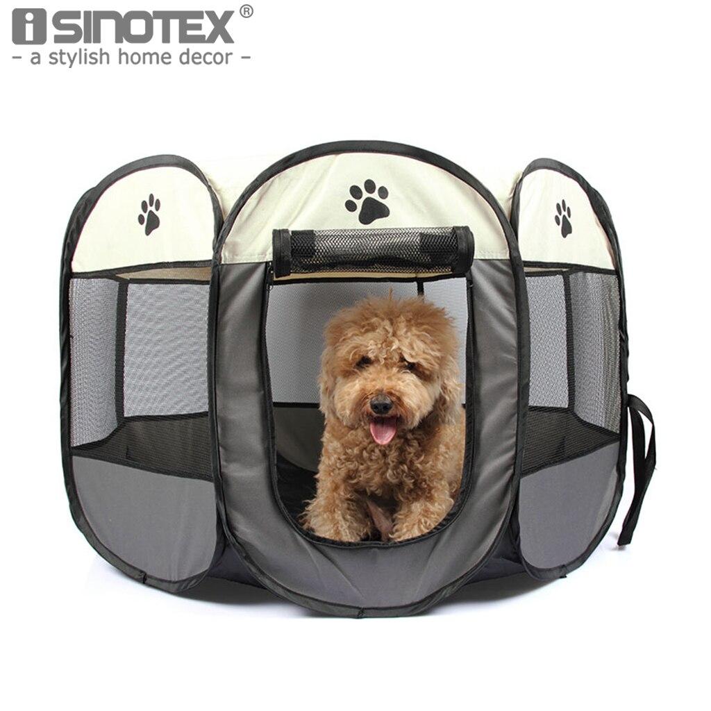 Portatile Pieghevole Pet Cane Gatto Gabbia Box Casa Tenda Kennel Funzionamento Facile Comodo Recinto All'aperto Forniture 6 Solido Colors1PCS
